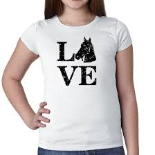 <b>Clever</b> LOVE with Horse for <b>O Girl's</b> Cotton Youth T-Shirt