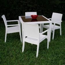 miami wickerlook resin patio dining set