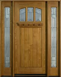 Entry Door In Stock Single With Sidelites Solid Wood With Wood