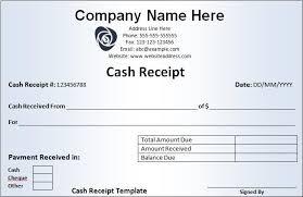 Cash Receipt Form Pdf Money Receipt Template 10 Free