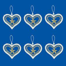 Gardinen Welt Online Shop Christbaumschmuck 6er Set Herzen