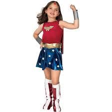 Girls Deluxe Wonder Woman Halloween Costume