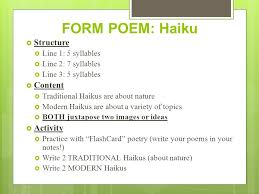 Analysis Catalysts Form Poetry Ppt Video Online Download