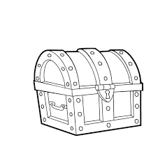 Open Treasure Chest Coloring Page Treasure Coloring Pages Box