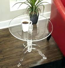 clear acrylic side table inch round curved modern furniture design end tables folding legs small