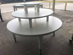 round retail display tables table wooden joseph ina fl for daylesford round retail display tables organics