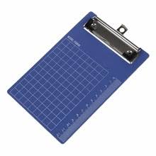 clipboard office paper holder clip. Pad Clip Holder Folder Plastic Clipboard Blue Purple For Paper A6(China) Office