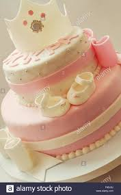 Decoration Details Of A Birthday Cake Made For Little Baby Girl In