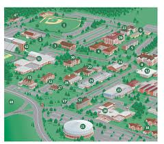 simmons college campus map. college campus map illustration of arkansas technical university (partial) simmons
