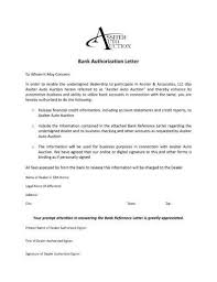 9 Bank Authorization Letter Examples Pdf Examples