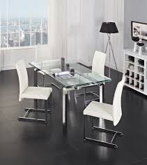 room fabio black modern: glass  stark extendable dining table creative furniture a