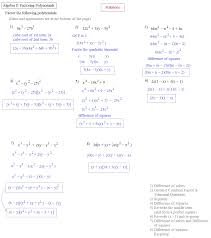 solving quadratic equations by factoring algebra 2 worksheet answers