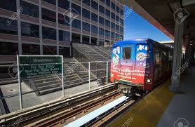 Mover System Detroit Michigan Usa March 28 2018 The Detroit People Mover