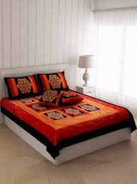 <b>Silk Double</b> Bed sheets, Luxury bedding range from Jaipur Fabric
