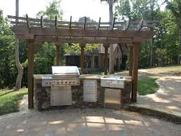 Outdoor Kitchen Roof Outdoor Kitchen Designs With Pergolas Collection In Outside