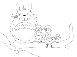 Small Picture Fun with Totoro Coloring Pages Get Coloring Pages