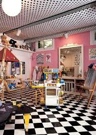 tented ceiling playroom in basement created by stapling fabric panels to exposed floor joists ceiling ideas l9 basement