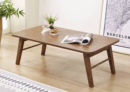 alden folding coffee table walnut