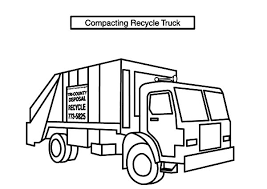 Small Picture Compacting Recycle Garbage Truck Coloring Pages Download Print