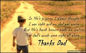 Thank You Dad Messages And Quotes Wishesmessages Com