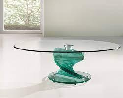 twirl glass coffee table portofino