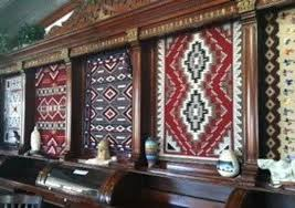cameron trading post restaurant navajo rugs decorating the restaurant walls