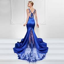 Deep V Neck Elegant Gowns Sleeveless Long Mermaid Party Dress ...