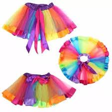 Handmade Skirt Size Chart Girls Kid Rainbow Pettiskirt Bowknot Skirt Lovely Ribbons Tutu Skirt Dancewear Fluffy Handmade Party Dance Performance Ball Gown Intl