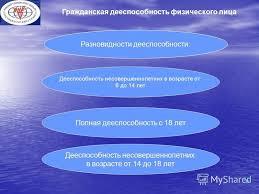 Презентация на тему ЧОУ ВО ЮЖНЫЙ УНИВЕРСИТЕТ ИУБИП САЛЬСКИЙ  6 Гражданская дееспособность физического
