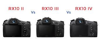 sony rx10 iv. sony rx10 ii vs iii iv rear screen comparison rx10 iv u
