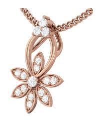 kreeli 14k rose gold diamond pendant triodanis with gh si2 diamond quality