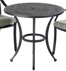 small image of capri cast round bistro table in bronze