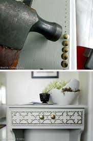 furniture diy projects. doctor up your handmedown or ikea furniture with a package of gold pushpins diy projects