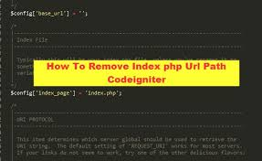 how to remove index php url path codeigniter jpg