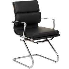 milan direct replica eames executive office. Milan Direct Eames Premium Leather Replica Soft Pad Management Visitor Chair Executive Office