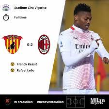 Full time Benevento 0 milan 2 Milan... - AC Milan News-Somali