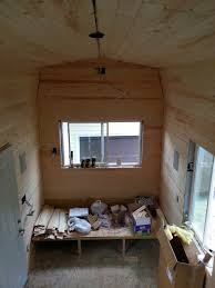 Small Picture Insulation and Pine Board Tiny House Fat Crunchy