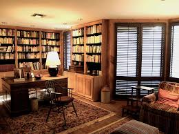 home office luxury home. absorbing bookshelves and the desk in luxury home offices ideas enlightened by table lamp near browm office u