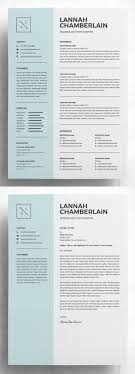 20 Best Simple Clean Resume Templates Design Graphic Design Junction