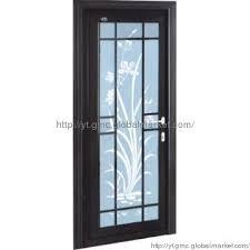 classical single panel interior door with craft glass