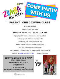 parent child zumba event central queens y click on the image below for a printable flyer to share