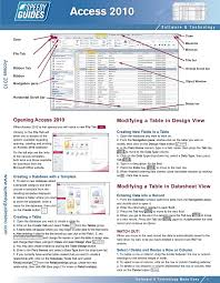 access cheat sheet microsoft access 2010 laminated quick reference guide che flickr