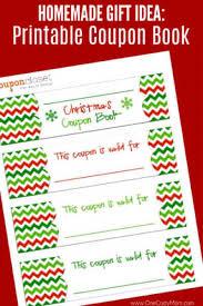 Printable Homemade Coupons Free Christmas Coupon Book Printable Homemade Christmas Coupons