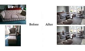 sofa and chairs before after 1