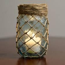 Mason Jars Decorated With Twine Shop Fishing Net Decor on Wanelo diafora Pinterest Fish net 17