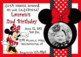 Minnie Mouse Invitation Design Minnie Mouse Invitation Cards