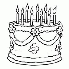 Small Picture January Birthday Cake Coloring Coloring Pages