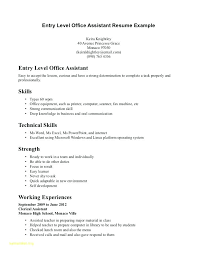 Clinical Assistant Resume Entry El Medical Assistant Resume ...