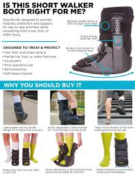 Medical Boot Size Chart Orthopedic Broken Toe Boot Short Cam Walker Foot Fracture Cast