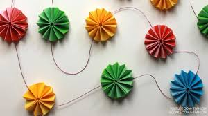 Paper Rosette Flower Diy Paper Crafts How To Make Paper Rosette Flower Garland
